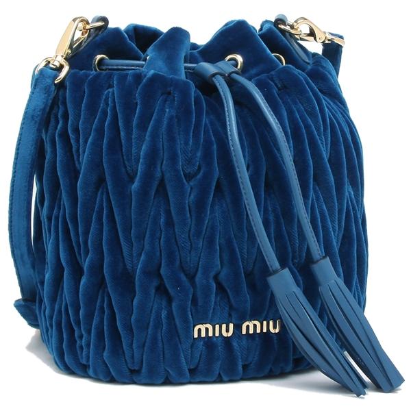 ミュウミュウ ショルダーバッグ レディース MIU MIU 5BE014 068 F0215 ブルー