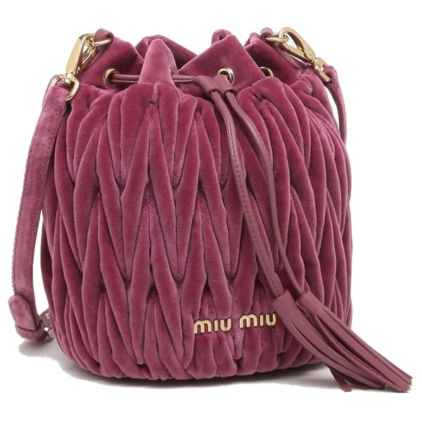 ミュウミュウ ショルダーバッグ レディース MIU MIU 5BE014 068 F0BQT ピンク
