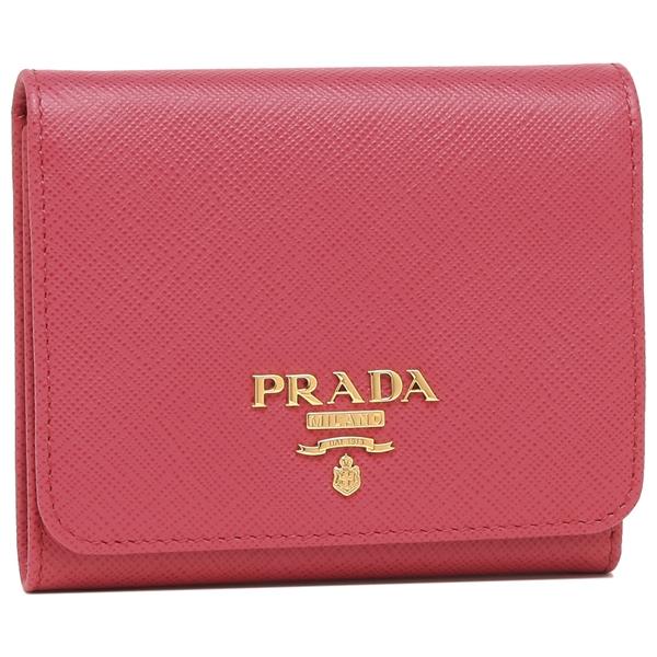 【4時間限定ポイント10倍】プラダ 折財布 レディース PRADA 1MH176 QWA F0505 ピンク