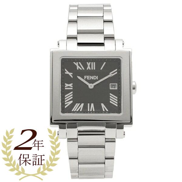 【期間限定ポイント5倍】【返品OK】フェンディ 腕時計 メンズ FENDI F606011000 シルバー ブラック