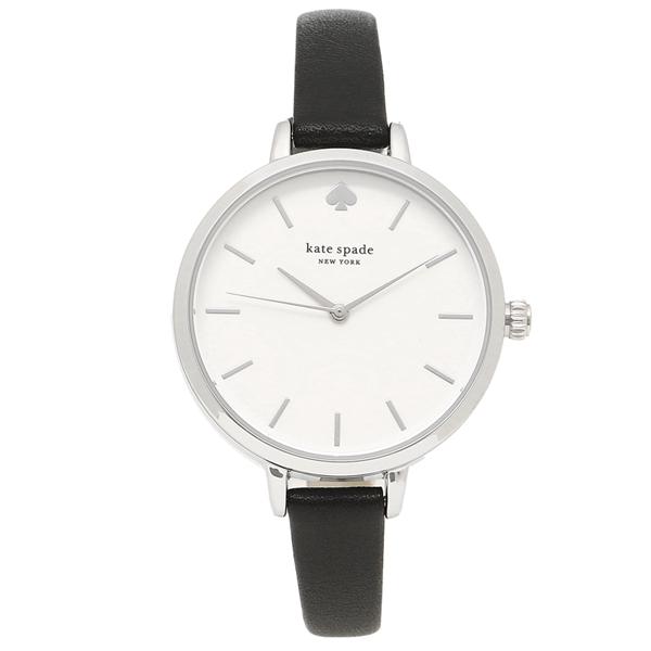 ケイトスペード 腕時計 レディース アウトレット KATE SPADE KSW1500 ブラック シルバー