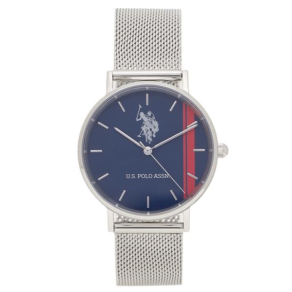 【6時間限定ポイント10倍】【返品OK】ユーエスポロ 腕時計 レディース メンズ US POLO ASSN US-1B-NVSS シルバー ブルー