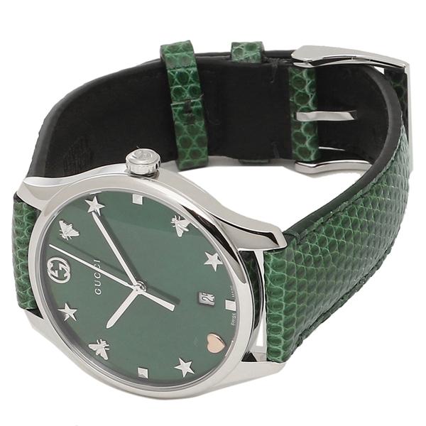 2062cebea13 Brand Shop AXES  Gucci watch Lady s GUCCI YA1264042 green