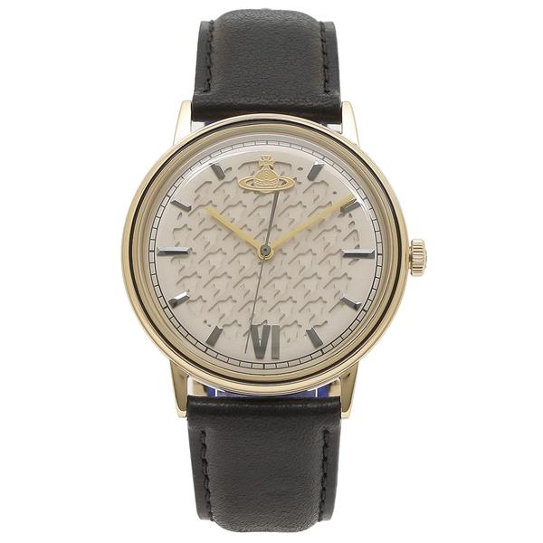 ヴィヴィアンウエストウッド 腕時計 メンズ VIVIENNE WESTWOOD VV212GDBK ブラック イエローゴールド