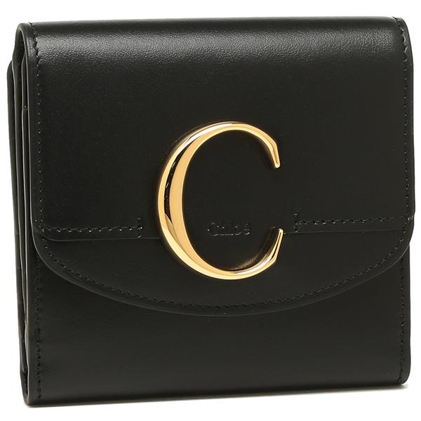 【9時間限定ポイント10倍】【返品OK】クロエ 折財布 レディース CHLOE CHC19SP056A37 001 ブラック