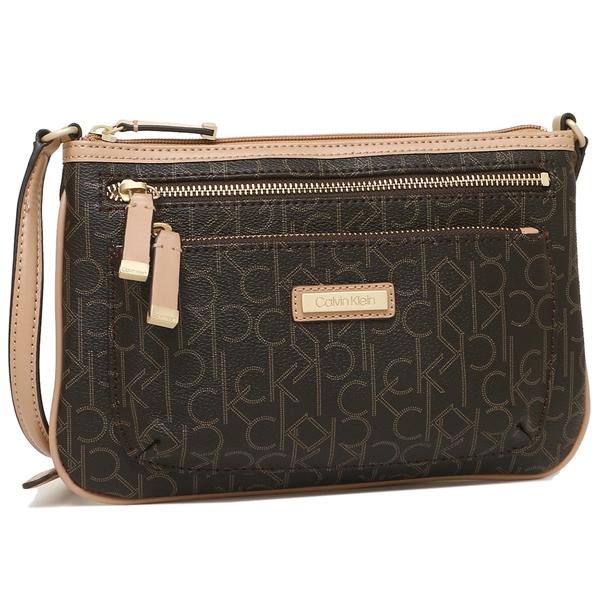 ce50e541a3 Calvin Klein shoulder bag outlet Lady's CALVIN KLEIN H3AEJ304 CBE brown ...
