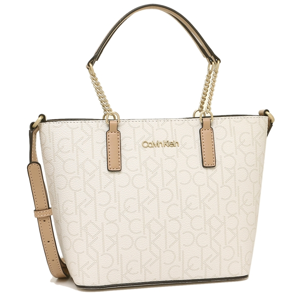 Calvin Klein Tote Bag Shoulder Outlet Lady S H9aej9yr Egs White