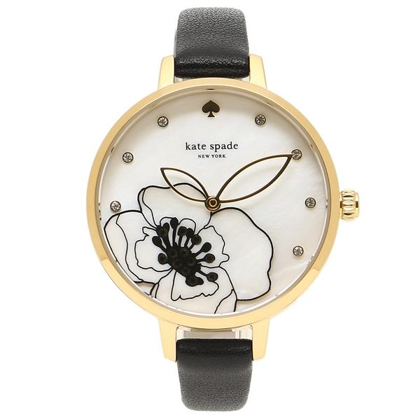 【返品OK】ケイトスペード 腕時計 レディース KATE SPADE KSW1480 ブラック イエローゴールド