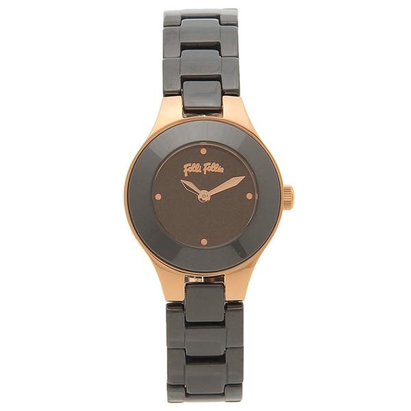 【期間限定ポイント5倍】【返品OK】フォリフォリ 腕時計 レディース FOLLI FOLLIE WF16R045BZK ブラック ブラック