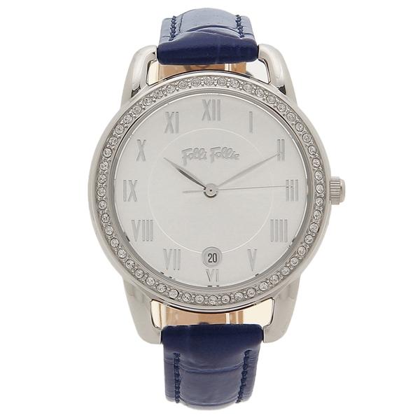 【6時間限定ポイント10倍】【返品OK】フォリフォリ 腕時計 レディース FOLLI FOLLIE WF17A016SDS-BL ブルー シルバー