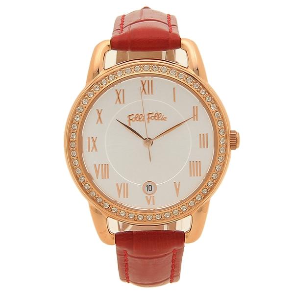 【期間限定ポイント10倍】【返品OK】フォリフォリ 腕時計 レディース FOLLI FOLLIE WF17B016SDS-RE レッド シルバー