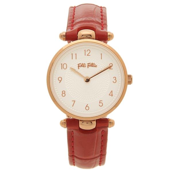 【6時間限定ポイント10倍】【返品OK】フォリフォリ 腕時計 レディース FOLLI FOLLIE WF17R014SSS-DR レッド ホワイト