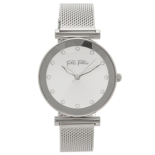 【期間限定ポイント5倍】【返品OK】フォリフォリ 腕時計 レディース FOLLI FOLLIE WF18T003BSS-XX シルバー シルバー