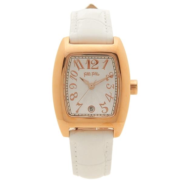 【返品OK】フォリフォリ 腕時計 レディース FOLLI FOLLIE WF5R080SDS-WH ホワイト シルバー