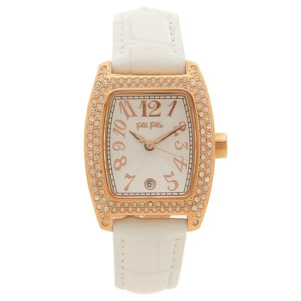 【期間限定ポイント5倍】【返品OK】フォリフォリ 腕時計 レディース FOLLI FOLLIE WF5R081SDS-WH ホワイト ピンクゴールド
