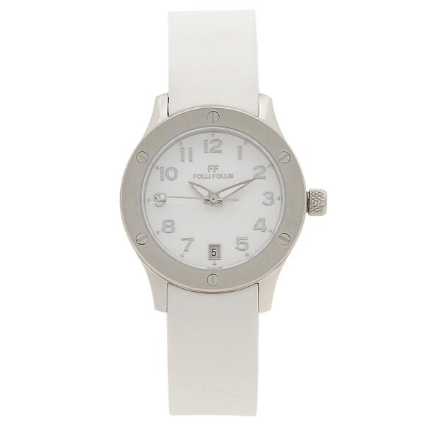 【期間限定ポイント5倍】【返品OK】フォリフォリ 腕時計 レディース FOLLI FOLLIE WT6T042SDW-WH ホワイト