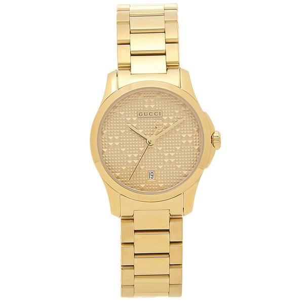 【期間限定ポイント5倍】【返品OK】グッチ 腕時計 レディース 自動巻き GUCCI YA126553 イエローゴールド ゴールド