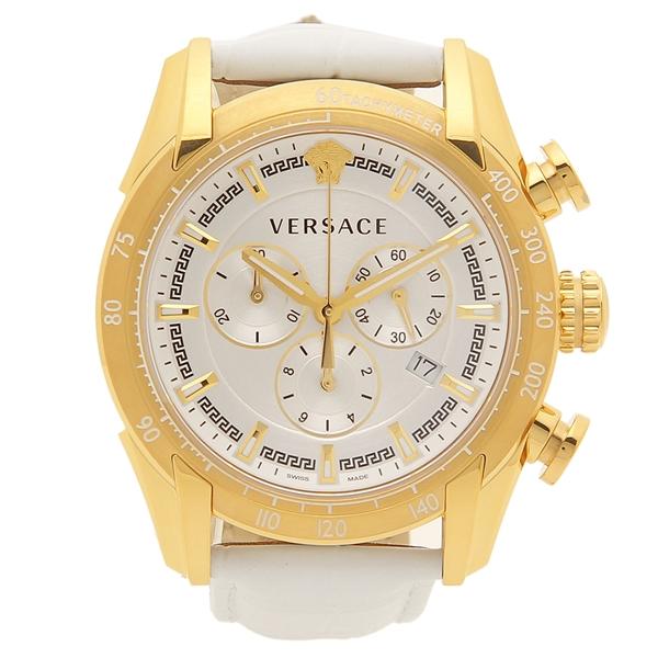 ヴェルサーチ 腕時計 メンズ VERSACE VEDB00218 ホワイト シルバー
