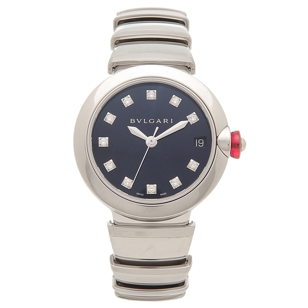 【期間限定ポイント5倍】ブルガリ 腕時計 レディース 自動巻き BVLGARI LU33C3SSD/11 シルバー ネイビー