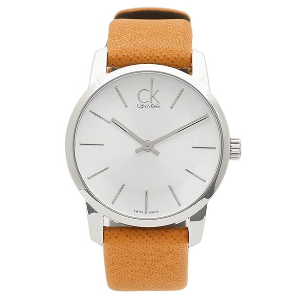 【72時間限定ポイント10倍】【返品OK】カルバンクライン 腕時計 レディース CALVIN KLEIN K2G231.20 キャメル シルバー