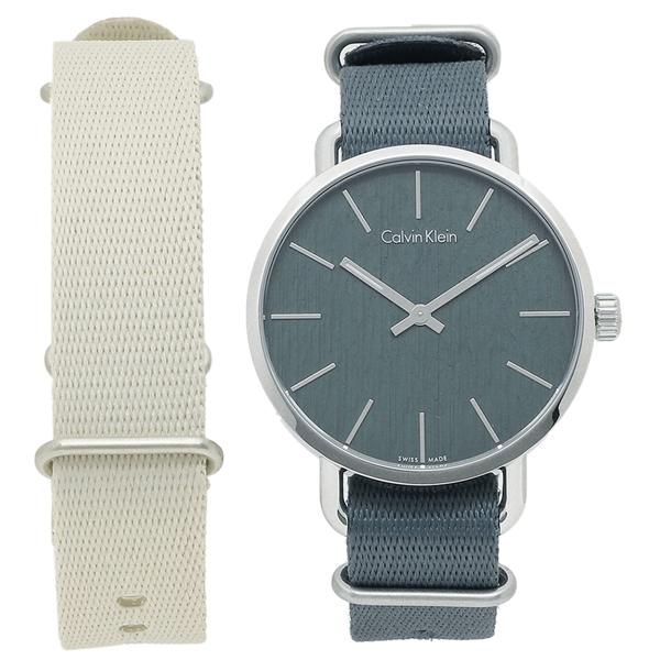 【期間限定ポイント5倍】【返品OK】カルバンクライン 腕時計 メンズ CALVIN KLEIN K7B211.WL ブルーグレー
