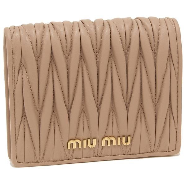 8b1f53b7239 Brand Shop AXES: ミュウミュウ fold wallet Lady's MIU MIU 5MV204 N88 ...