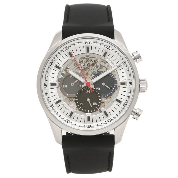 ゾンネ 腕時計 メンズ 自動巻き SONNE H022SS-BK ブラック シルバー