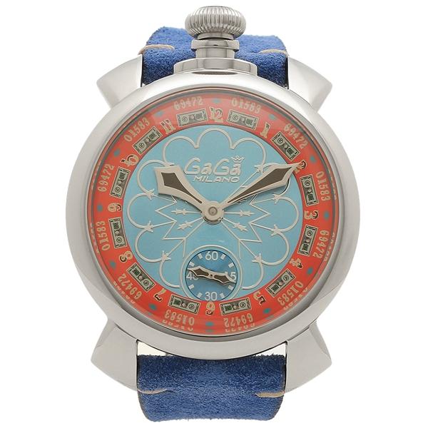 【期間限定ポイント10倍】【返品OK】ガガミラノ 腕時計 メンズ 手巻き GAGA MILANO 5010.LV02-BLU ブルー