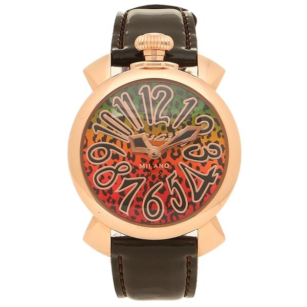 【期間限定ポイント10倍】【返品OK】ガガミラノ 腕時計 レディース GAGA MILANO 5021ART01-BRW ブラウン マルチカラー