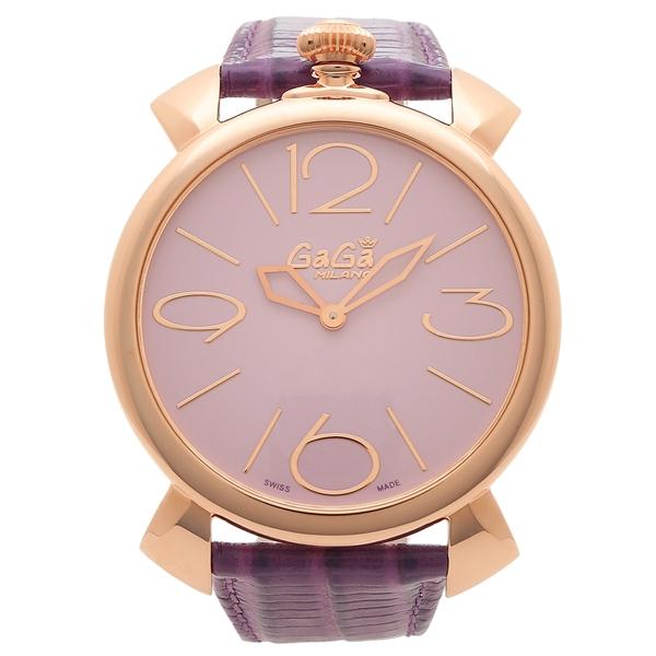 【期間限定ポイント5倍】【返品OK】ガガミラノ 腕時計 メンズ GAGA MILANO 5091.02 ライトパープル