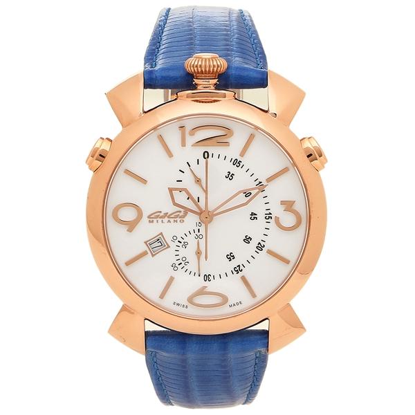 【期間限定ポイント5倍】【返品OK】ガガミラノ 腕時計 メンズ GAGA MILANO 5098.01BT-NEW-N ブルー ホワイト