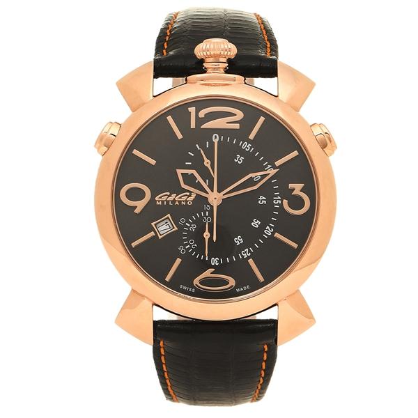 【期間限定ポイント5倍】【返品OK】ガガミラノ 腕時計 メンズ GAGA MILANO 5098.02BK-NEW-N ブラック オレンジ