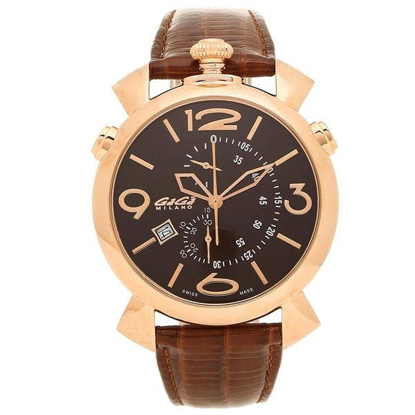 【返品OK】ガガミラノ 腕時計 メンズ GAGA MILANO 5098.03BW-NEW ブラウン