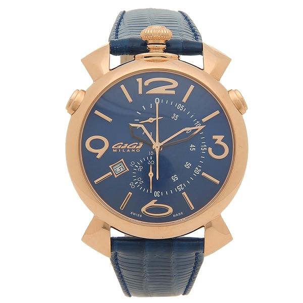 【返品OK】ガガミラノ 腕時計 メンズ GAGA MILANO 5098.04-N ネイビー