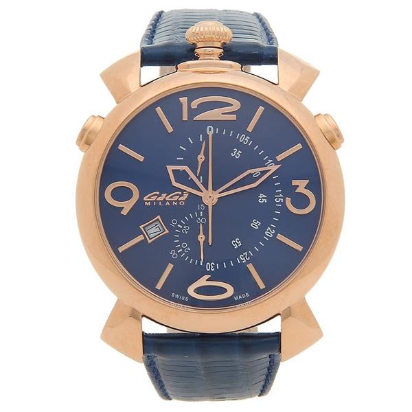 【6時間限定ポイント10倍】【返品OK】ガガミラノ 腕時計 メンズ GAGA MILANO 5098.04 ネイビー