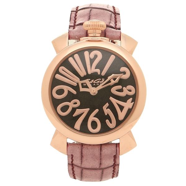 【期間限定ポイント5倍】【返品OK】ガガミラノ 腕時計 レディース メンズ GAGA MILANO 5221.01 ピンク ワインレッド ブラック