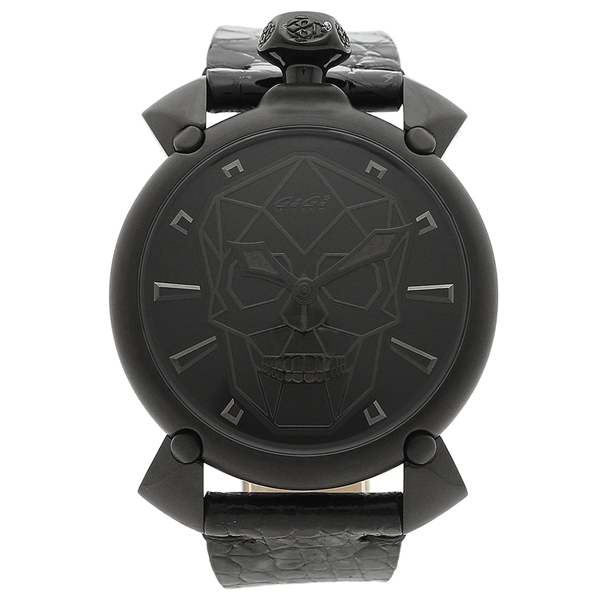 【6時間限定ポイント10倍】【返品OK】ガガミラノ 腕時計 メンズ 自動巻き GAGA MILANO 6012.01S-BLK ブラック