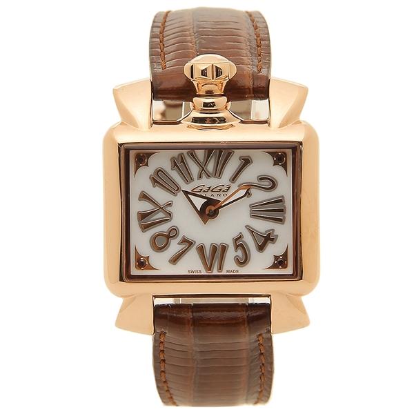 【返品OK】ガガミラノ 腕時計 レディース GAGA MILANO 6036.02 ブラウン ホワイト