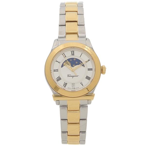【9時間限定ポイント10倍】【返品OK】フェラガモ 腕時計 レディース Salvatore Ferragamo FBL040017 シルバー イエローゴールド