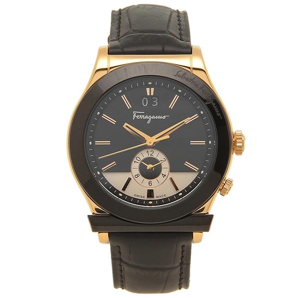 【期間限定ポイント5倍】【返品OK】フェラガモ 腕時計 メンズ Salvatore Ferragamo FFO020017 ブラック