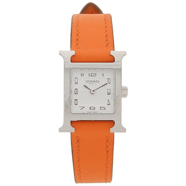 エルメス 腕時計 レディース HERMES 037881WW00 HH1.110.131/SW93 オレンジ シルバー ホワイト