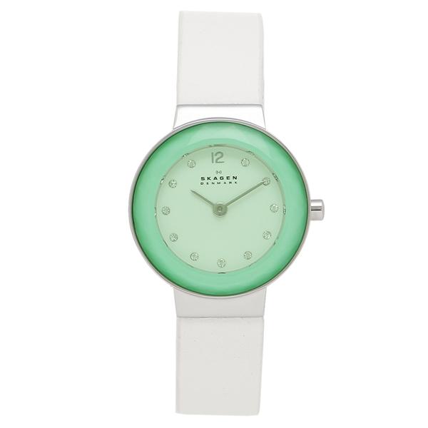 【返品OK】スカーゲン 腕時計 レディース SKAGEN SKW2779 ホワイト ブルー グリーン