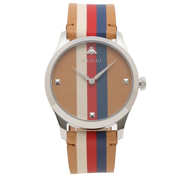 【期間限定ポイント5倍】【返品OK】グッチ 腕時計 メンズ GUCCI YA1264078 ブラウン マルチ