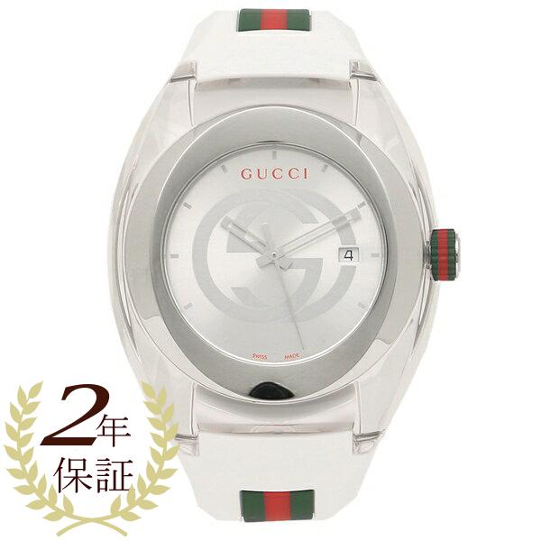 【9時間限定ポイント10倍】【返品OK】グッチ 腕時計 レディース メンズ GUCCI YA137102 ホワイト