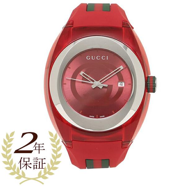 【6時間限定ポイント10倍】【返品OK】グッチ 腕時計 レディース メンズ GUCCI YA137103 レッド