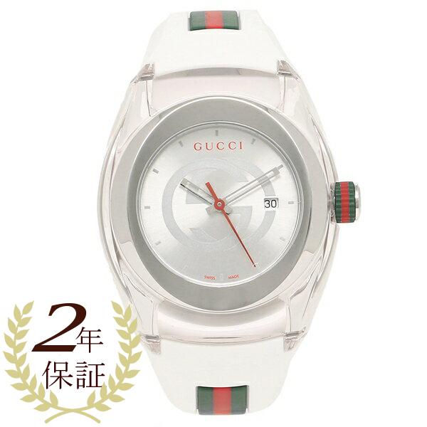 【期間限定ポイント5倍】【返品OK】グッチ 腕時計 レディース メンズ GUCCI YA137302 ホワイト