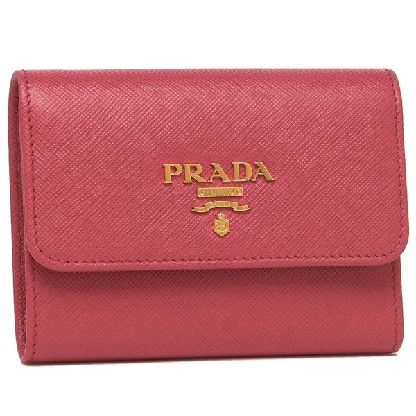 【4時間限定ポイント10倍】【返品OK】プラダ 折財布 レディース PRADA 1MH840 QWA F0505 ピンク