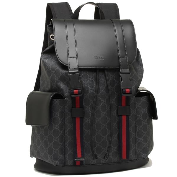 Gucci backpack men GUCCI 495563 K9R8X 1071 black gray red