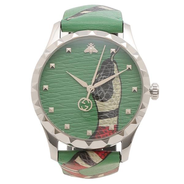 【期間限定ポイント10倍】【返品OK】グッチ 腕時計 メンズ GUCCI YA1264081 グリーン