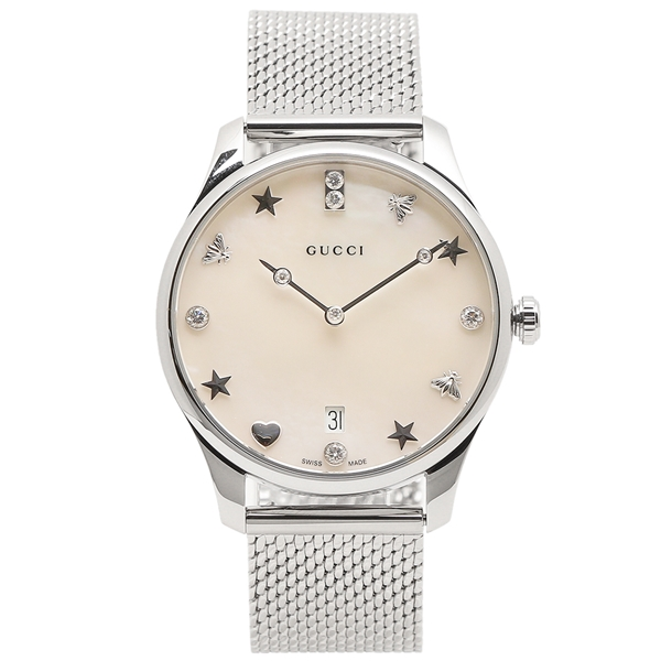 【返品OK】グッチ 腕時計 レディース GUCCI YA1264094 シルバー